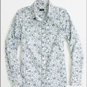J crew floral button down